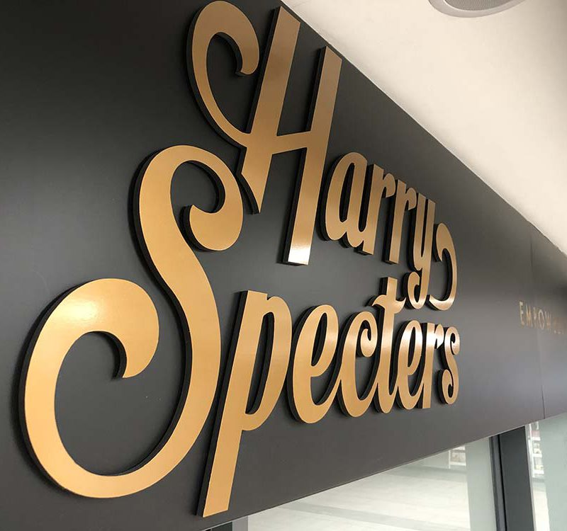 90 harry spectares sign 3d cut acrylic letters cambridge