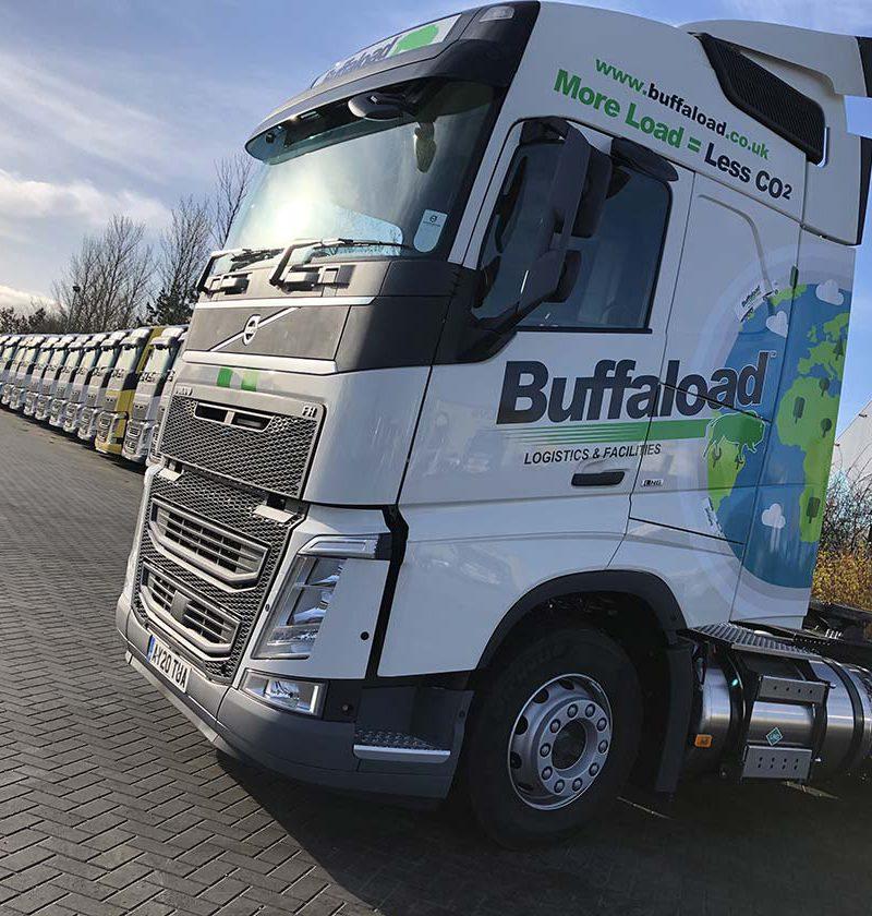 89 cab buffaload part wrap cut vinyl lorry graphics cambridge