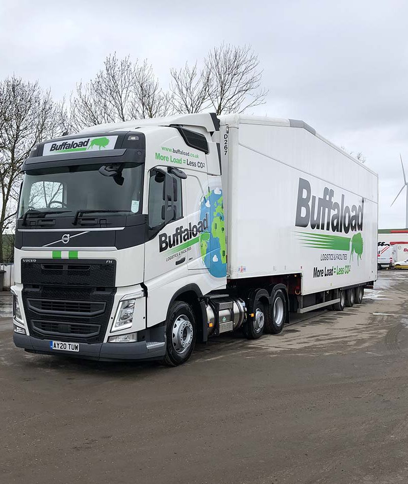90 cab buffaload part wrap cut vinyl lorry graphics cambridge